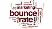 posição : Bounce rate animated word cloud, text design animation.
