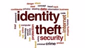 sigilo : Identity theft animated word cloud, text design animation.
