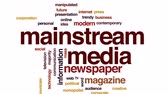 independent : Mainstream media animated word cloud, text design animation. Stock Footage