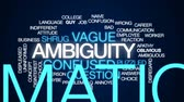 apathy : Ambiguity animated word cloud, text design animation.