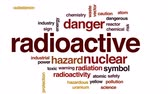 sinal de alerta : Radioactive animated word cloud, text design animation.