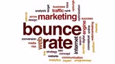 classificação : Bounce rate animated word cloud, text design animation.