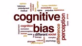 hoşgörü : Cognitive bias animated word cloud, text design animation.
