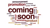 уведомление : Coming soon animated word cloud, text design animation. Стоковые видеозаписи