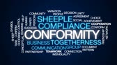 jednota : Conformity animated word cloud, text design animation.