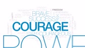 udatnost : Courage animated word cloud, text design animation. Kinetic typography. Dostupné videozáznamy