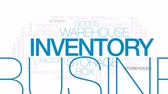 inventário : Inventory animated word cloud, text design animation. Kinetic typography.
