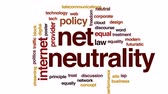 provedor : Net neutrality animated word cloud, text design animation.