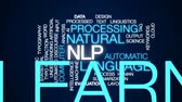 processado : NLP animated word cloud, text design animation. Stock Footage