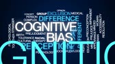 perception : Cognitive bias animated word cloud, text design animation.