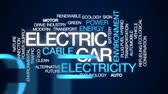 hybridní : Electric car animated word cloud, text design animation. Dostupné videozáznamy