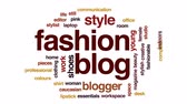 blogger : Fashion blog animated word cloud, text design animation. Stock Footage