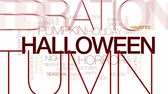 aranha : Halloween animated word cloud, text design animation. Kinetic typography.