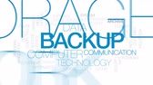 web server : Backup animated word cloud, text design animation. Kinetic typography. Stock Footage