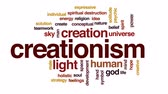 trex : Creationism animated word cloud, text design animation. Stock Footage