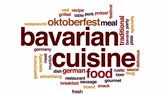 munique : Bavarian cuisine animated word cloud, text design animation. Vídeos
