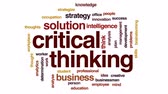 çözüm : Critical thinking animated word cloud, text design animation. Stok Video