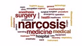 nurse : Narcosis animated word cloud, text design animation.