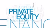 pensão : Private equity animated word cloud, text design animation. Kinetic typography.