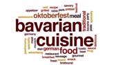 баварский : Bavarian cuisine animated word cloud, text design animation. Стоковые видеозаписи