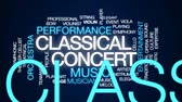 muzycy : Classical concert animated word cloud, text design animation. Wideo