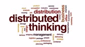 dağıtım : Distributed thinking animated word cloud, text design animation. Stok Video