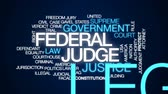 avukat : Federal judge animated word cloud, text design animation.