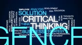 matbaacılık : Critical thinking animated word cloud, text design animation. Stok Video