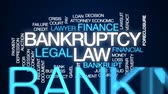matbaacılık : Bankruptcy law animated word cloud, text design animation.