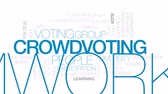 единение : Crowdvoting animated word cloud, text design animation. Kinetic typography.