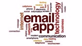 app : Email app animated word cloud, text design animation.