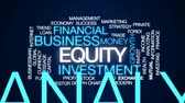 investidor : Equity animated word cloud, text design animation.