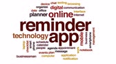 app : Reminder app animated word cloud, text design animation.