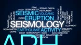 deprem : Seismology word cloud, text design animation.
