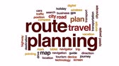 rehber : Route planning animated word cloud, text design animation. Stok Video