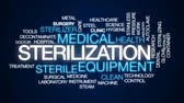 chirurgie : Sterilization animated word cloud, text design animation.