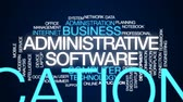 administrativo : Administrative software animated word cloud, text design animation.