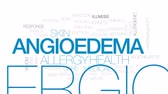 hornets : Angioedema animated word cloud, text design animation. Kinetic typography.
