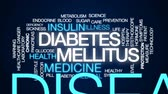 ensülin : Diabetes mellitus animated word cloud, text design animation.