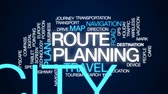 orientar : Route planning animated word cloud, text design animation. Stock Footage