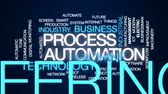 вещь : Process automation animated word cloud, text design animation. Стоковые видеозаписи