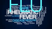 remédio : Rheumatic fever animated word cloud, text design animation. Stock Footage