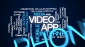 app : Video app animated word cloud, text design animation.