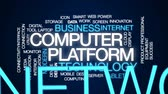 web server : Computer platform animated word cloud, text design animation. Stock Footage