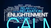идиллический : Enlightenment animated word cloud, text design animation.