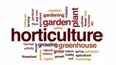 estufa : Horticulture animated word cloud, text design animation.