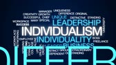 udatnost : Individualism animated word cloud, text design animation.