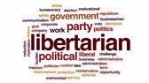 administrativo : Libertarian animated word cloud, text design animation. Stock Footage