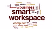 mobil : Smart workspace animated word cloud, text design animation. Dostupné videozáznamy