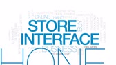 telefone inteligente : Store interface animated word cloud, text design animation. Kinetic typography. Stock Footage